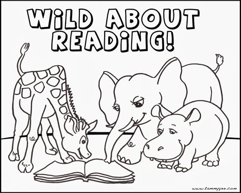 coloring pages of animals reading origami n stuff 4 kids wild about reading