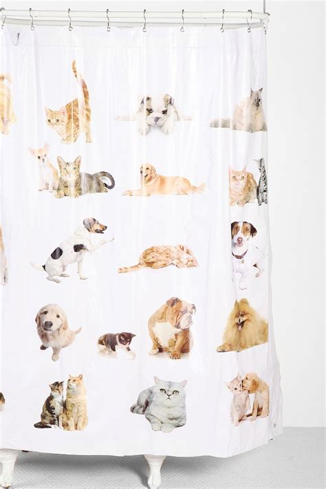 dog curtains cats and dogs shower curtain urban outfitters