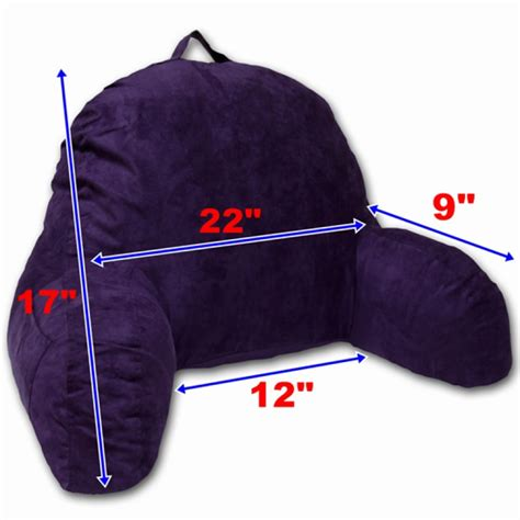 Cuddle Buddy Pillow With Arm by Microsuede Bedrest Pillow Purple Bed Rest Reading Pillow