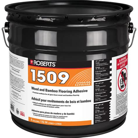 roberts 4 gal wood and bamboo flooring urethane adhesive r1509 4 the home depot