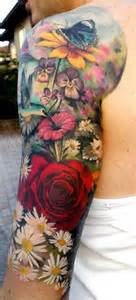 colorful flower tattoos colorful flowers sleeve matteo pasqualin the