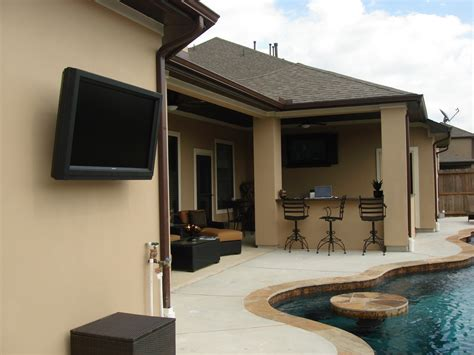 outdoor tv wall tv installation houston home theater installation