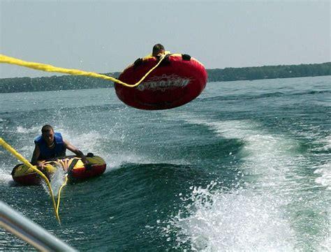 boat tubes on tubing met wake skate ski atcuracao