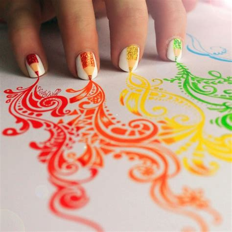 Pencil Nail Design colored pencil nail design pictures photos and images