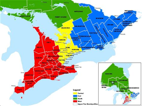 map of ontario map of ontario map of ontario counties and regions