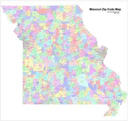 st louis mo zip codes map images