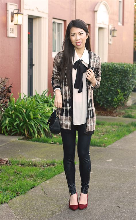 wine colored cardigan all about fashion stuff bow blouse plaid cardigan wine