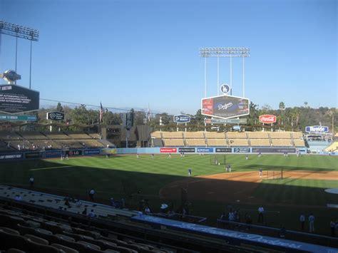 dodger stadium sections dodger stadium section 127 rateyourseats com