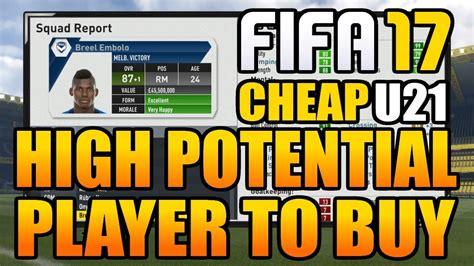17 Best Images About High Fifa 17 Career Mode Best High Potential Players To Buy 21