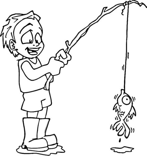 coloring page of fishing pole fishing pole coloring page clipart best