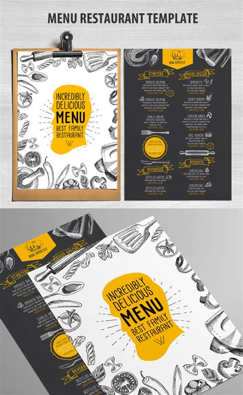 menu card template word modern clean 27 restaurant menu templates with creative designs