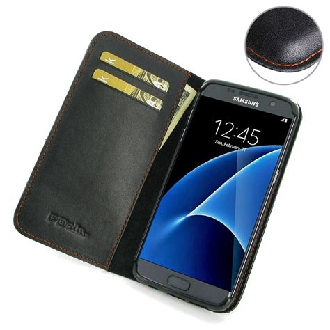 Samsung Galaxy S7 Edge Premium Leather Flip Cover Kulit samsung galaxy s7 edge leather smart flip wallet