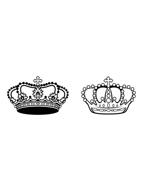 king and queen crowns together clipart clipartxtras