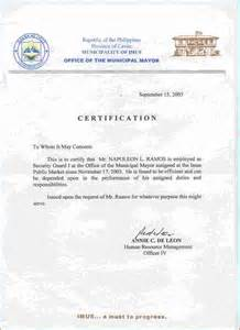 Labor Certification Letter Format employment certificates department of labor and