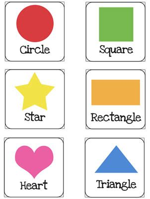shapes flash cards printable for preschoolers — printable