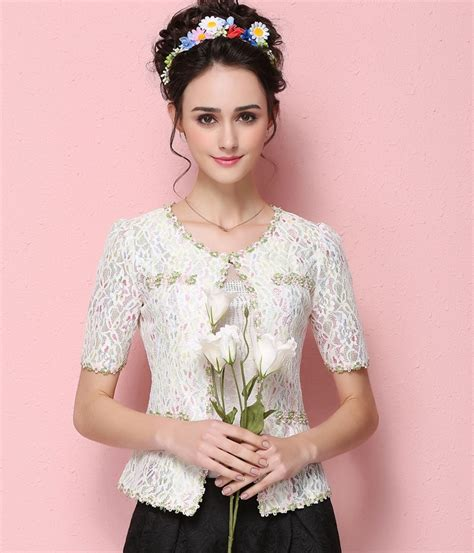 Preorder Dress Anak Import High Quality 25 high quality lace jacket import jc803 white tamochi