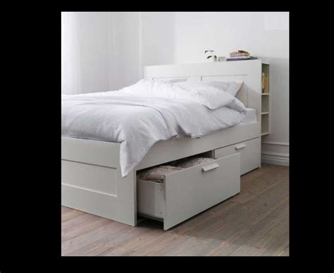 Bed Frame With Headboard Storage 50 Percent Discount Brimnes Size Bed Frame With