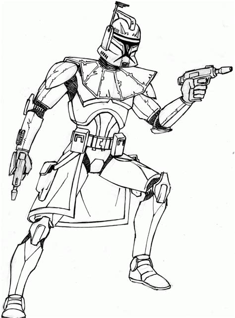 wars coloring free coloring pages captain rex coloring home