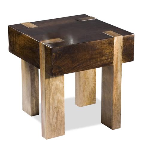 small metal accent table home design ideas berkeley solid chunky wood contemporary end side table