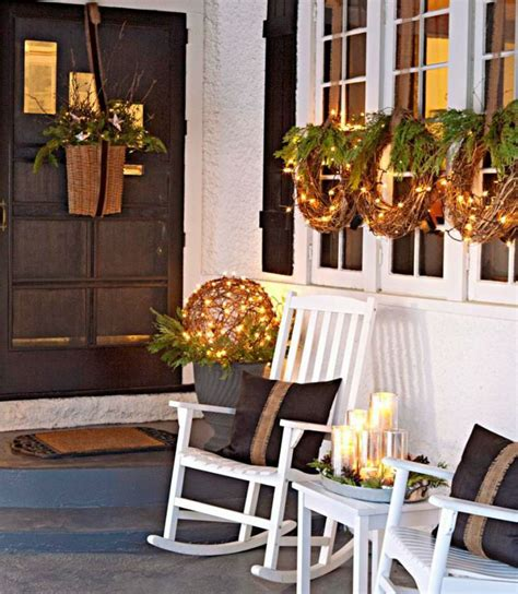 porch decorations for christmas 40 comfy rustic outdoor christmas d 233 cor ideas digsdigs