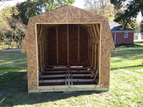 12 X 8 Shed by 8 X 12 Gambrel Storage Shed Bryan Ohio Jeremykrill
