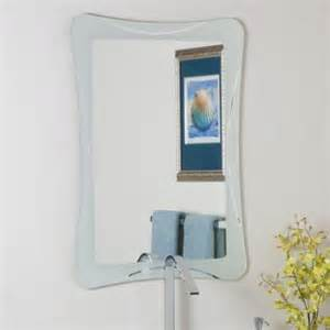 decor ssm21 butterfly frameless bathroom mirror