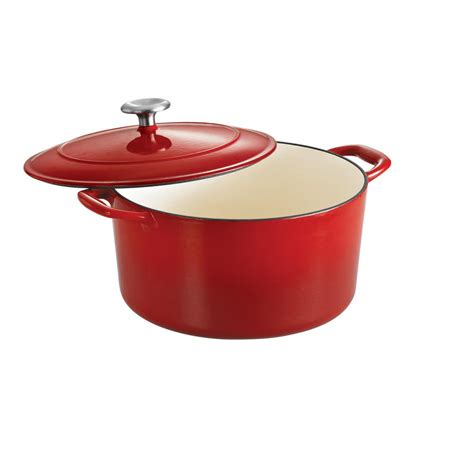enameled cast iron tramontina gourmet enameled cast iron 6 5 qt covered