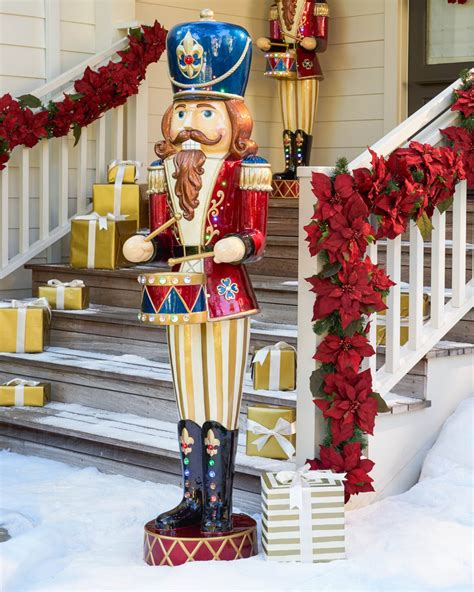 outdoor nutcrackers for sale at lowes led jeweled musical nutcracker balsam hill