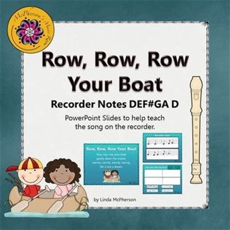 row row your boat on recorder row row row your boat recorder powerpoint visuals