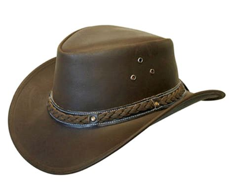 Leather Australia by Real Leather Australian Aussie Cowboy Sun Protection Hat