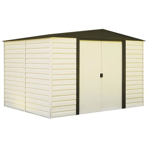 vision 9 5 ft x 8 ft vinyl storage shed lowe s canada shop arrow common 10 ft x 8 ft interior dimensions 9