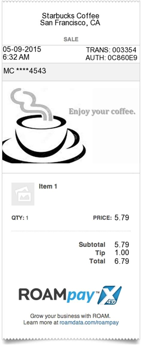 Expressexpense Custom Receipt Maker Online Receipt Template Tool Starbucks Receipt Template