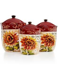 Sunflower Kitchen Canisters by Tuscan Sunflower Kitchen Decor Best Home Decoration