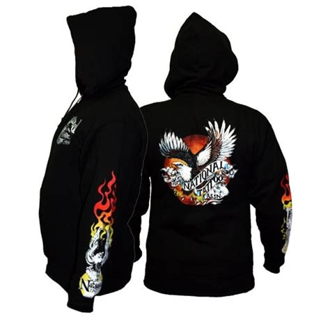 national tattoo association national association hooded sweatshirt xx large