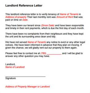 Reference Letter For My Tenant Sle Landlord Reference Template 9 Free Documents In Pdf Word