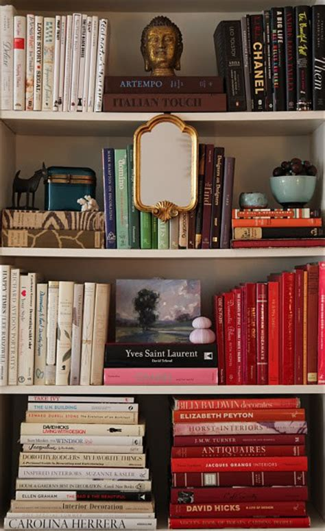 books for decorating shelves organize books by color 15 minute decorating making