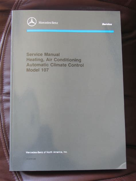 service manual auto air conditioning service 1985 mercedes benz s class spare parts catalogs mercedes benz r107 electrical troubleshooting manual