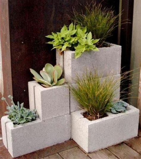 cinder block planters 8 easy diy furniture ideas with upcycled cinder blocks and bricks homeli
