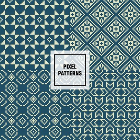 pixel pattern ai pixel patterns vector free download