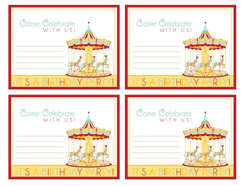 free printable carnival party decorations 6 best images of free printable carnival birthday