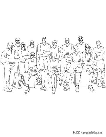 basketball team and coach coloring pages hellokids com