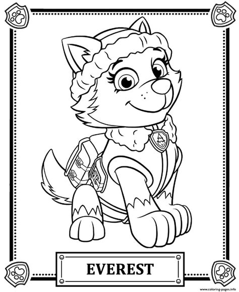 paw patrol coloring pages game print paw patrol everest coloring pages paw patrol
