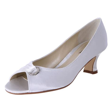 5 Wedding Day Shoes For Every Budget by Clarice Womens Satin Rhinestone Low Heel Wedding Shoes