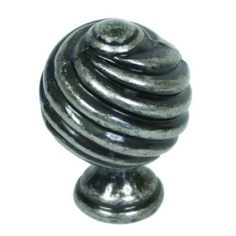 Pewter Knobs by From The Anvil 33691 30mm Twist Pewter Cupboard Knobs From