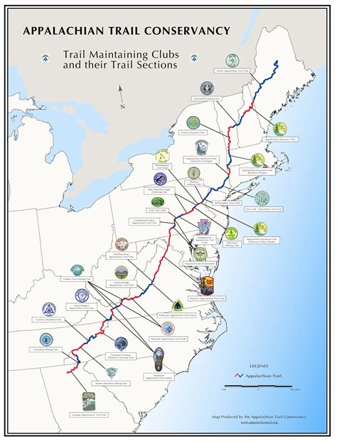 Appalachian Trail Section Maps by Pic Appalachian Trail
