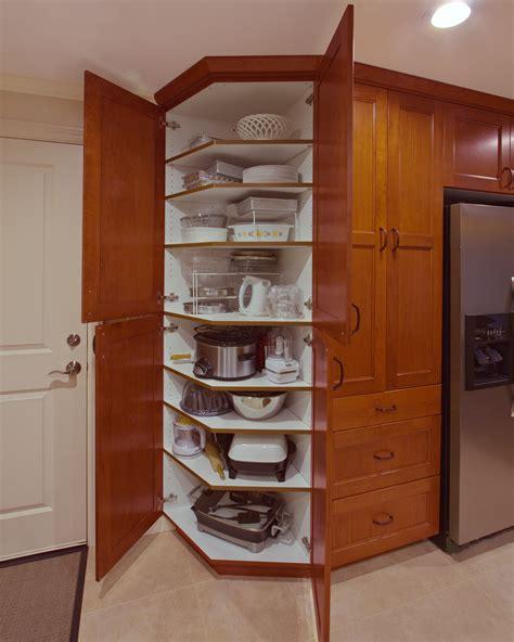 angled pantry  esthetics  functionality