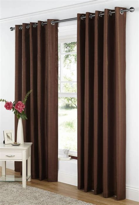 chocolate curtains eyelet curtina java readymade eyelet curtains chocolate 66 quot x 90