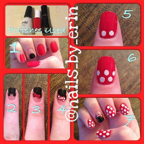 tutorial nail art minnie do it yourself just like that minnie mouse nail art tutorial