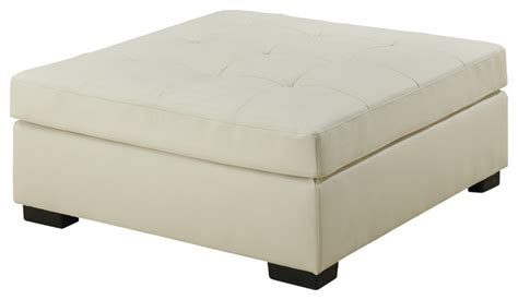 ivory ottoman leather ivory bonded leather ottoman contemporary footstools and