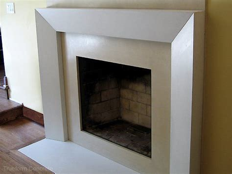 Cement Fireplace Surround by White Concrete Fireplace Surround And Hearth For A Wood